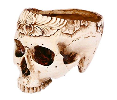 Resin Skull Skeleton Flower Pot Succulent Plant Pot Storage Tank Container Plant Starter Candy Bowl Dish Statue Sculpture Home Bar Table Decor Halloween Ornament - Dish Pot Candy