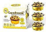 No Sugar Aloud Dark Belgian Chocolate and Organic Peanut Butter Cup-a-Brownie Mix (No sugar added, gluten free, no milk, egg free, keto, Vegan, Diabetic friendly) 11.8 0Z (Makes 6 cups)