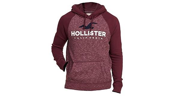 Hollister - Sudadera con capucha - Manga Larga - para hombre borgoña XL/56: Amazon.es: Ropa y accesorios