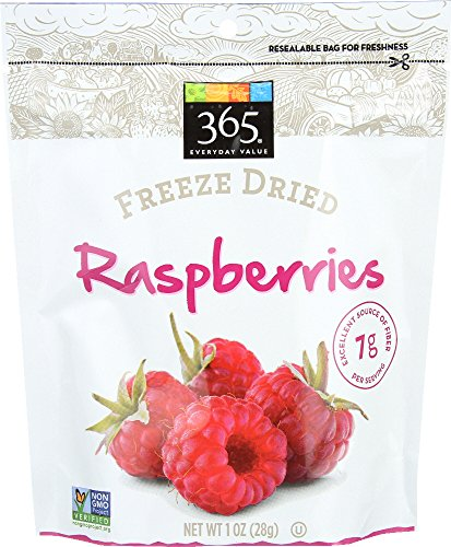 365 Everyday Value Freeze Dried Raspberries, 1 (Dried Raspberries)