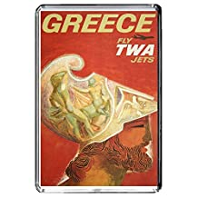 A230 GREECE FRIDGE MAGNET GREECE TRAVEL VINTAGE REFRIGERATOR MAGNET
