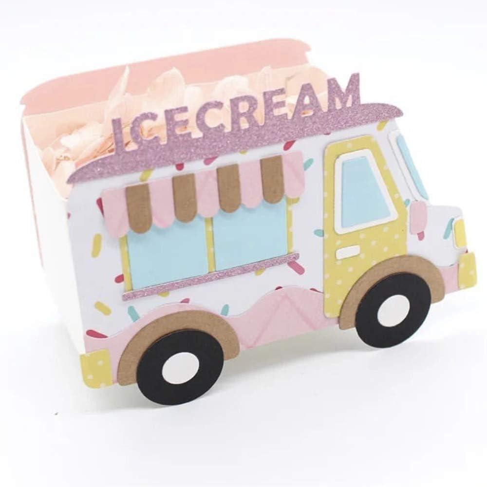 KSCRAFT Food Truck Candy Car Metal Cutting Dies Stencils for DIY Scrapbooking/Photo Album Decorative Embossing DIY Paper Cards