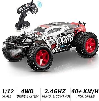 KOOWHEEL RC Voiture Télécommandée, 4WD Tout Terrain 1:12 Monster ...