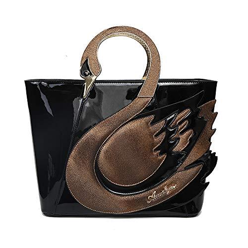 Pinchu Sac Femmes Messenger Sac De Personnalité Créative Portable Mode 2018 Nouveau Paquet Européen Et Américain Cygne Forme Couture Couleur Marée, Noir Noir