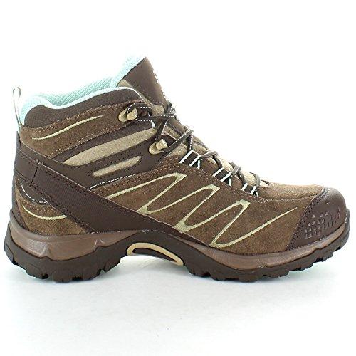 Salomon Ladies Ellipse Mid Leather GTX GoreTex Waterproof Hiking Boots Burro Brown hYomy