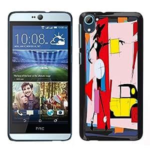 Dragon Case - FOR HTC Desire D826 - never give up - Caja protectora de pl??stico duro de la cubierta Dise?¡Ào Slim Fit