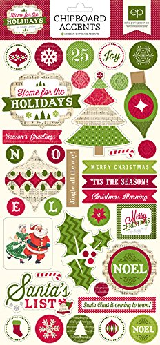 "Home For The Holidays Chipboard Accents 6""X13""-"
