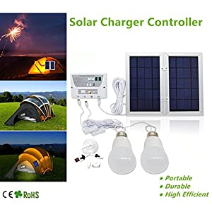 HowFine-Multi-function-Solar-Energy-Light-Portable-Controller-for-Home-Garden-Outdoor-Camp-Solar-Charger-Bank-System-with-2-LED-Light-Bulb-and-USB-Output-for-All-Phones-iPad-iphone-6V5W8000mAh