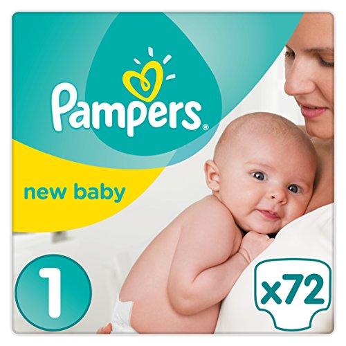 581 opinioni per Pampers New Baby Premium Protection, 72 Pannolini, Taglia 1 (2-5 kg)