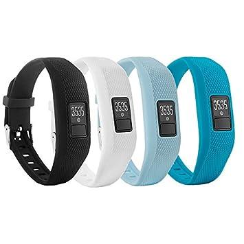 Repuesto de correa con hebilla para reloj Fit-power de silicona suave para pulsera fitness Vivofit 3 Garmin (sin rastreador), 4 Colors: Amazon.es: Deportes ...