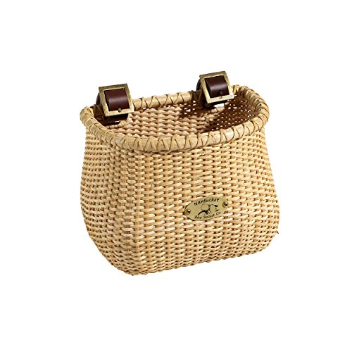 Nantucket Bicycle Basket Co. Lightship Collection Children's Bicycle Basket, Classic/Tapered, Natural