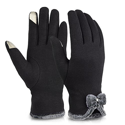 Vbiger Womens Winter Gloves Touch Screen Gloves Thick Warm W