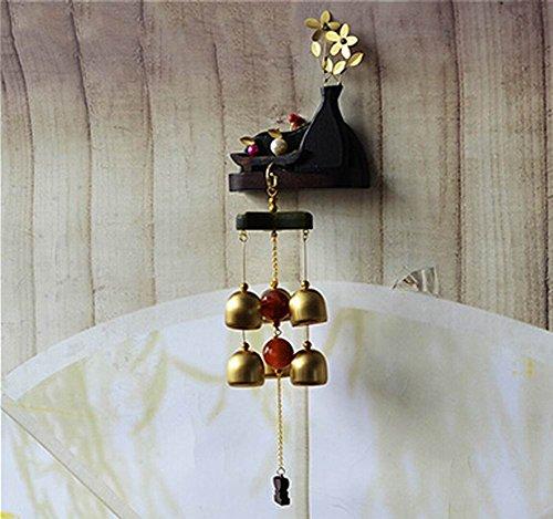 Indoor/Outdoor Decor Bronze Wind Chimes Wind Bells with 6 Bells, Style C