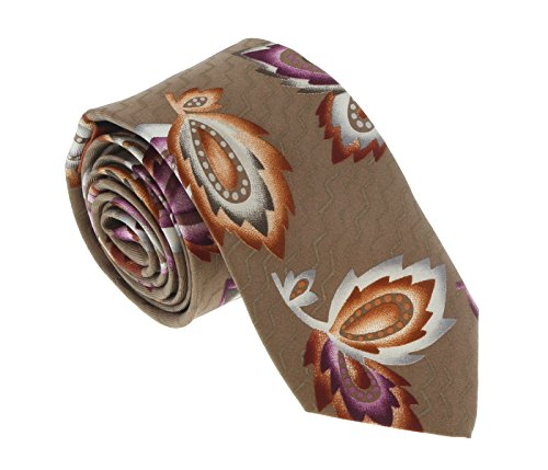 - Missoni U1452 Khaki/Purple Chinoiserie 100% Silk Tie for mens