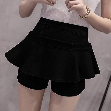 GDNTCJKY Faldas para Mujer Falda De Cintura Alta Falda con ...