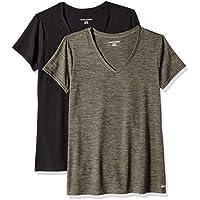 Amazon Essentials Women's 2-Pack Tech Stretch Short-Sleeve V-Neck T-Shirt