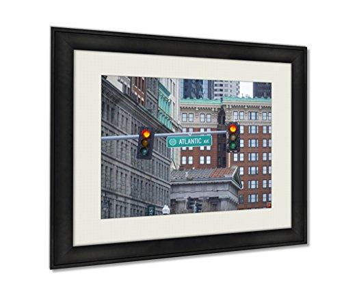 Ashley Framed Prints, Atlantic Avenue In North Boston Boston Massachusetts April 3 2017, Black, 20x25 Art, - Boston Copley In Place