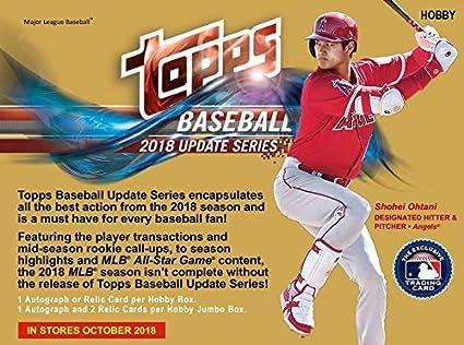2018 Topps Update Series Baseball Hobby Box 36 Packs10 Cards 1 Silver Pack