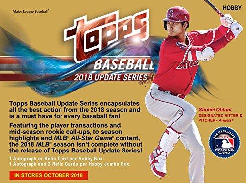 2018 Topps Update Series Baseball Jumbo Box (10 Packs/50 Cards/2 Silver Packs)
