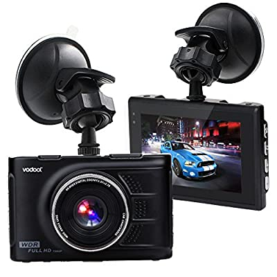 "Vodool 3"" Screen Full HD 1080 Car Dash Cam, Car DVR Dashboard Camera Car Vehicle Camera with G-Sensor ,Loop Recording ,WDR, Night Vision. Support with 32G TF Card (not include) from Vodool"