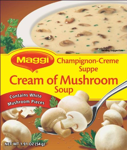 - Maggi Cream of Mushroom Soup, 1.91-Ounce (Pack of 12)