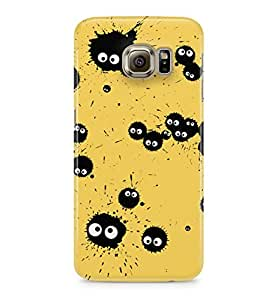 My Neighbor Totoro Ink Soot Sprites Yellow Hard Plastic Snap-On Case Cover For Samsung Galaxy S6