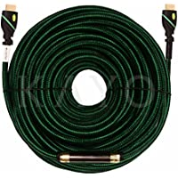 HDMI Cable 100 FT,KAYO High Speed HDMI 2.0 Super HD 4K 2160p Cable(100ft/30M)with Signal Booster+Bonus CABLE TIE+USB Charger, Supports-Full 4K HD,Blu-Ray,3D,Ethernet & Audio Return,PS3/PS4,Xbox360