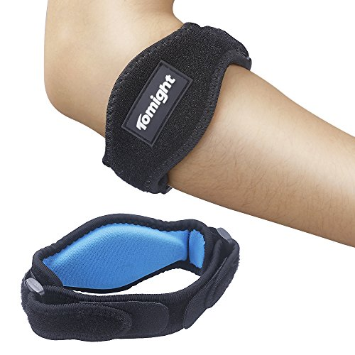 [2 Pack] Elbow Brace, Tomight Tennis Elbow Brace with Compression Pad for Both Men and Women (Tennis Elbow Guard)