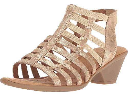 Comfortiva Women's Fran Platino Distressed Foil Suede 8 W US ()