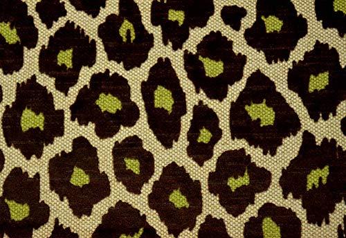 (Brown Green Cut Velvet Upholstery Simba Chocolate Microfibres)