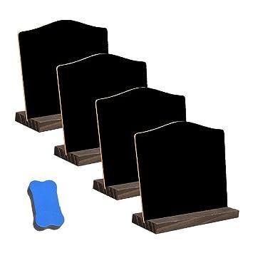 Mini pizarras de Mesa de 4 Piezas con 1 Borrador seco ...