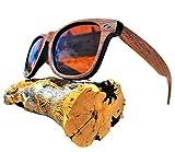 Polarized Brown Walnut Wood Sunglasses - Wooden - Wayfarer - Men - Women - UV400