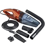 VonHaus 12V Hand Car Vacuum Cleaner Powered by Vehicle DC Adapter Wet and Dry Portable Handheld Unit with 13 Foot Power Cord