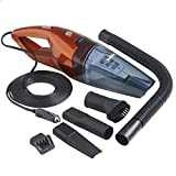 VonHaus 12V In Car Vacuum Cleaner powered by Vehicle DC Adapter – Wet and Dry Portable Handheld Unit with 13ft Power Cord
