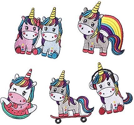 Parche de unicornio para planchar, bonitos parches bordados para ...