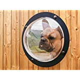 Dog Fence Window SUALER Pet Fence Bubble Large Size - 11.8 inches in Diameter for Dog & Cat See Outside Relieve Anxiety Reduced Barking