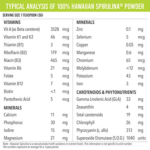 Pure Hawaiian Spirulina Powder 16 oz - Better than Organic - Vegan, Non-GMO, Non-Irradiated - 100% Hawaii Grown - Superfood Supplement & Natural Multivitamin by NUTREX HAWAII (Image #4)