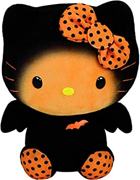 Hello Kitty - Peluche Halloween, 15 cm, color naranja (TY 41107TY)
