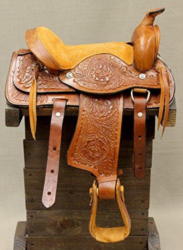 10″ Kids Youth Leather Western Miniature Pony Saddle