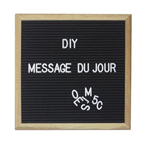 Tableau mural carré Mémo lettres 30, 5x30, 5cm - Noir AUCUNE 3700301141736