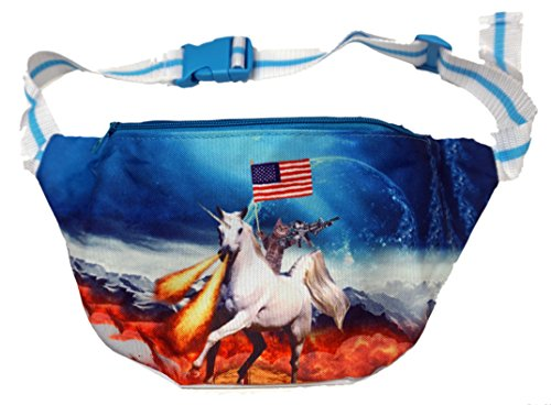 [Funny Guy Mugs Space Cat Fanny Pack - Unicorn] (Ideas For Halloween Costumes For Guys)