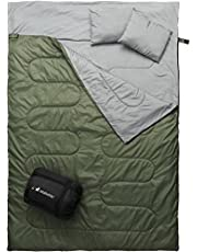 Save on MalloMe Camping Double Sleeping Bag - 3 Season Army Green