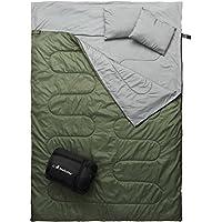 MalloMe Camping Sleeping Bag - 3 Season Warm & Cool...