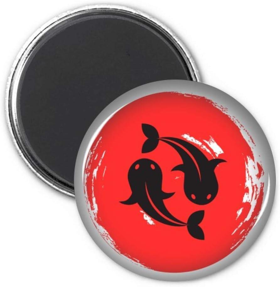 Goldfish Abstract Brush Japan Refrigerator Magnet Sticker Decoration Badge Gift