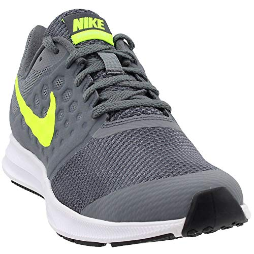 (NIKE Boy's Downshifter 7 (GS) Running Shoe Cool Grey/Volt/Dark Grey/White Size 7 M US)