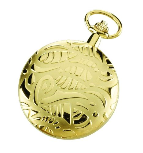 (Charles Hubert 3842 Gold-Plated Mechanical Pocket Watch)