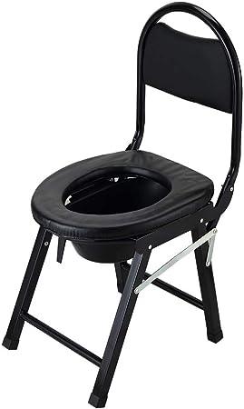 Sedia da Camera da Letto con vasino Toilette per Doccia per disabili Pieghevole