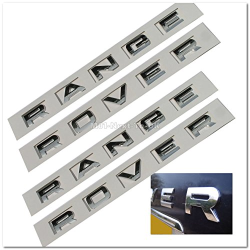 2x Range Rover Chrome L322 Hood Tailgate Bonnet Badge Emblem Lettering SJH1041CH (Range Accessories Chrome Rover)