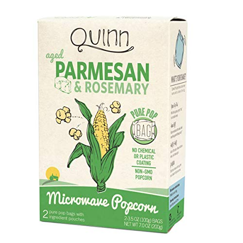 Quinn Popcorn, Popcorn Parmesan Rosemary, 3.5 Ounce, 2 Pack