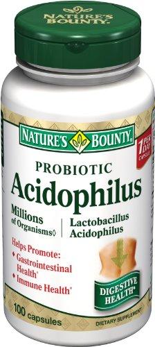 Nature's Bounty Probiotic Acidophilus, 100 Capsules (Pack of 4)